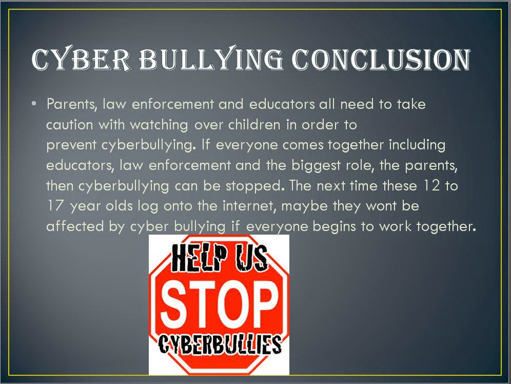 salma's ICT BLOG: CYBER BULLYING POWERPOINT