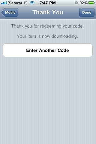 To redeem Free iTunes Redeem Codes on iPhone, iPad, or iPod touch 05