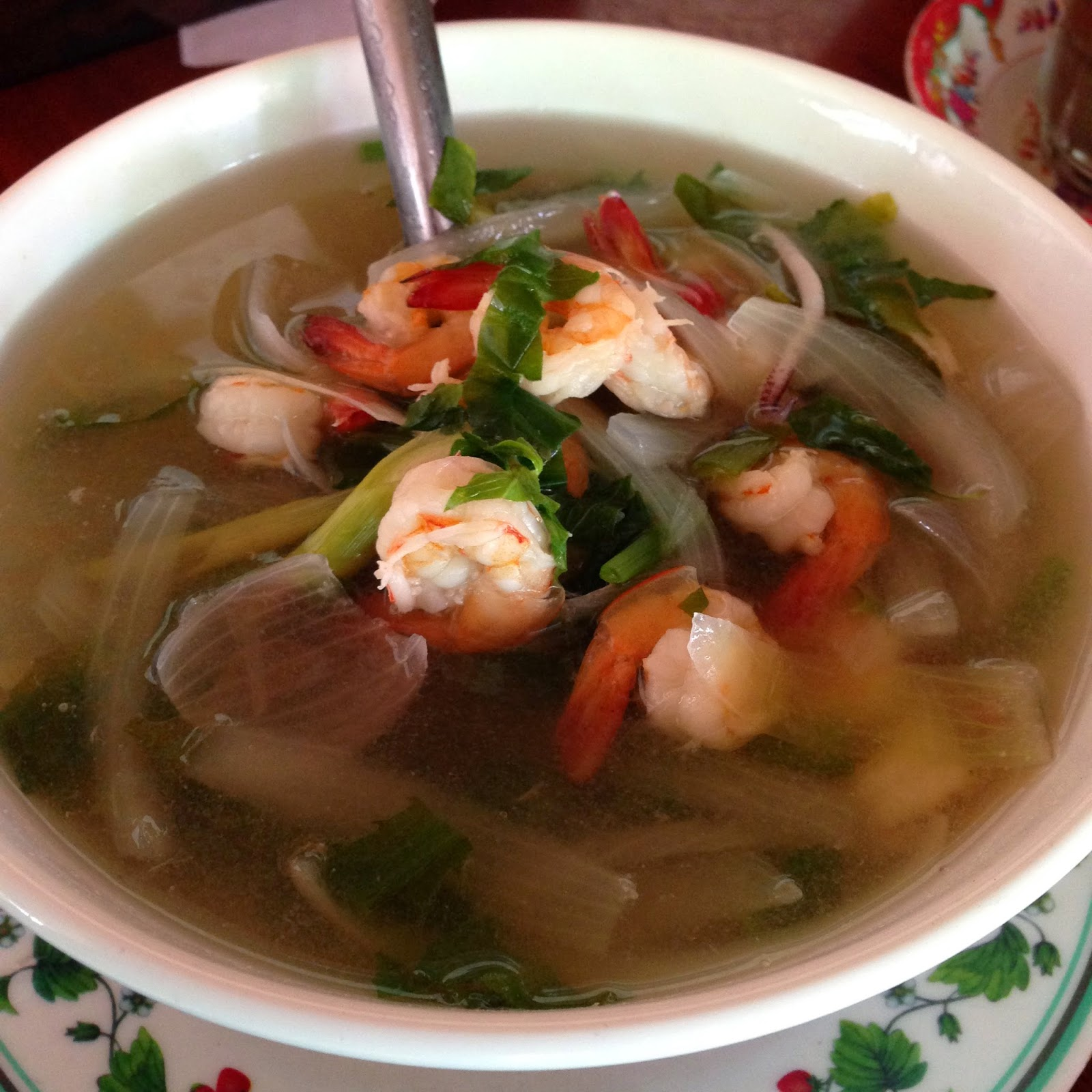 Cambodian Muslim Restaurant Spicy Prawn Soup