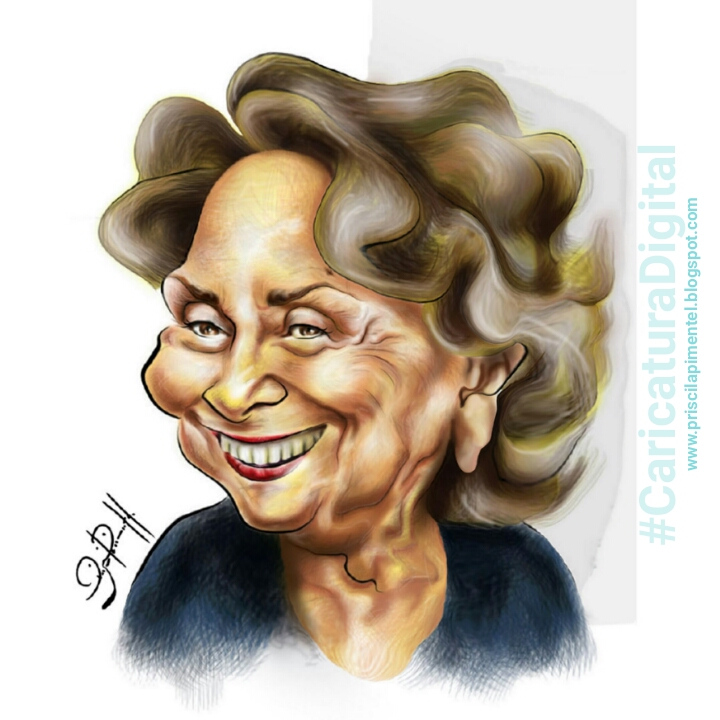 Atriz Eva Wilma_caricatura digital