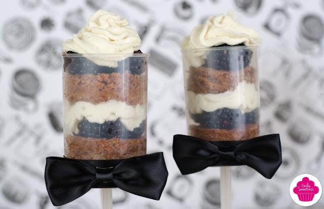 Pushcakes au chocolat au lait, mures et chantilly + Concours