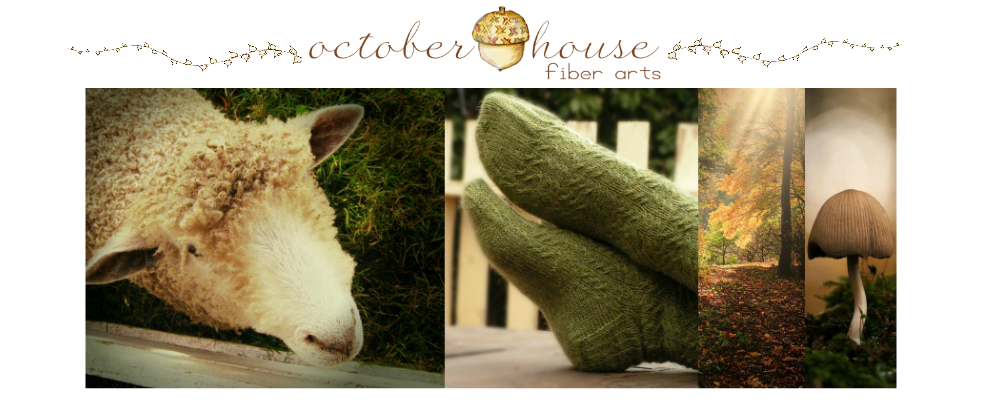 October House - It is always spinning and knitting season here!