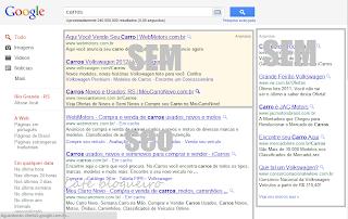 Indentificando SEO e SEM nos resultados do Google
