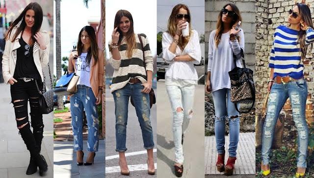 ♥ Tendencia: Ripped Jeans (Jeans totalmente detonado) ♥