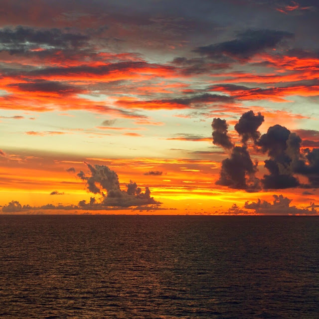 Eastern Caribbean sunset aboard the Carnival Sunshine