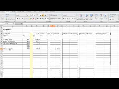 Accounting Worksheets2