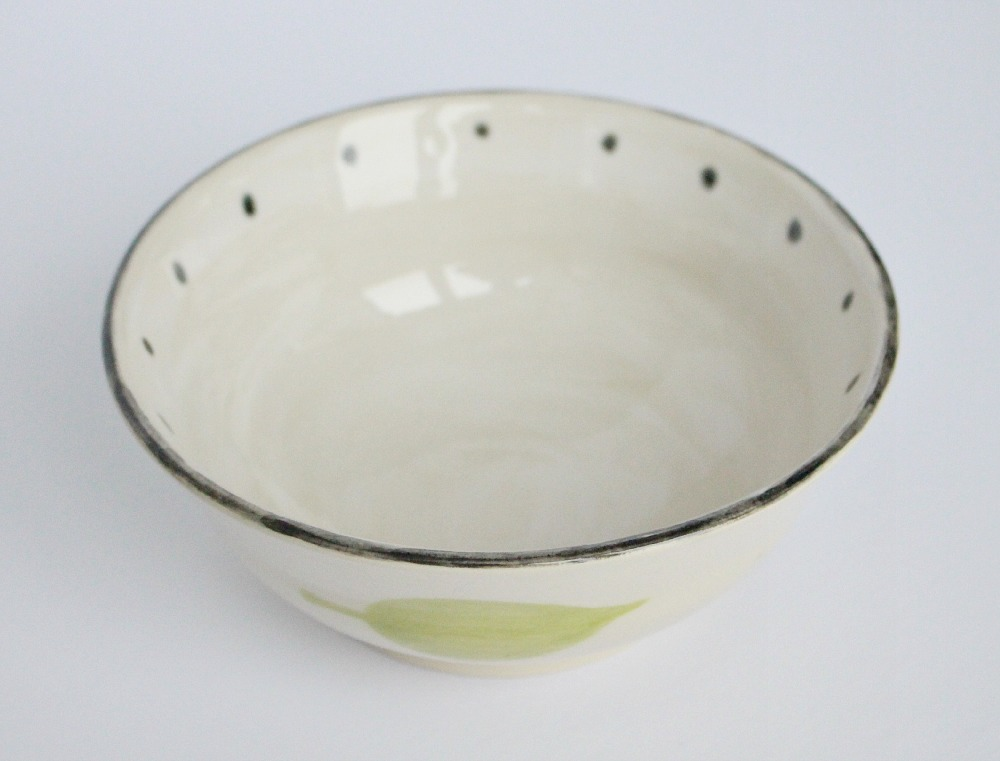 Polka Dot Pottery Bowl