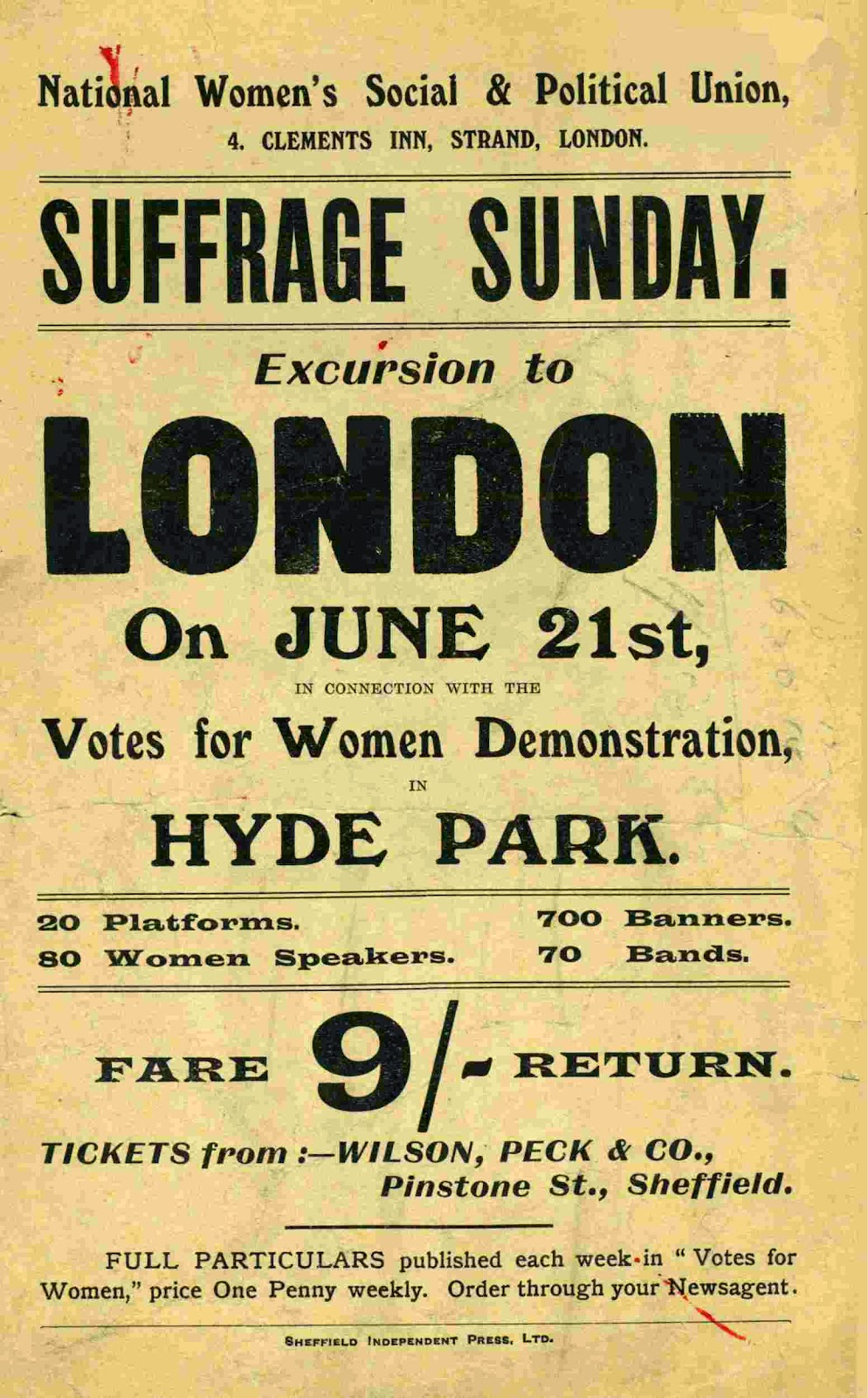 Libraries Sheffield: Exploring the Archives: women's suffrage