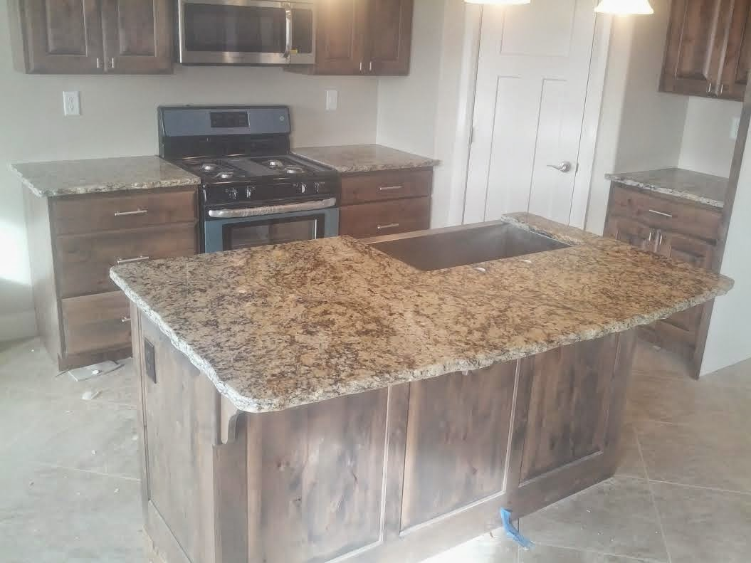 Stone Solutions Granite: Venetian Gold with Apron Sink