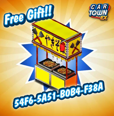 Below is the code for Car Town EX Free Gift Food Stand 2: