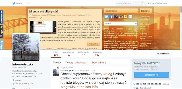Mój profil na twitterze