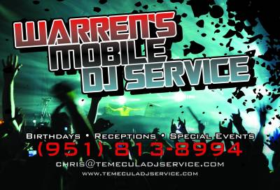Warren's DJ Service in Temecula 951-813-8994