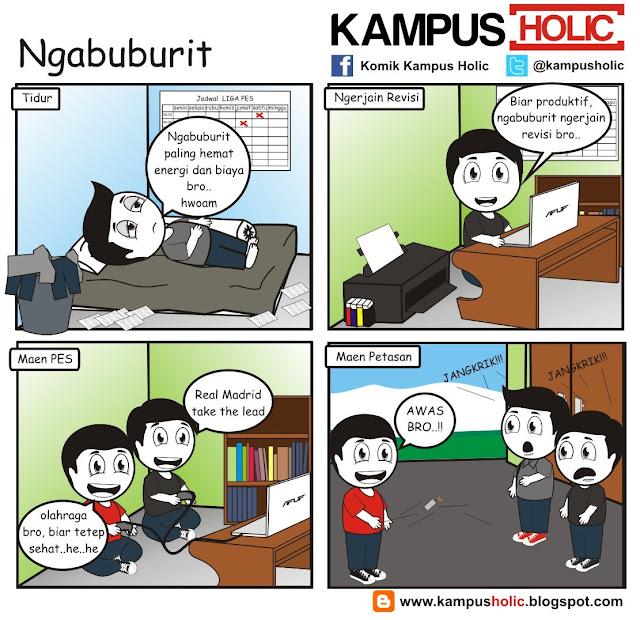 #206 Ngabuburit mahasiswa komik kampus holic