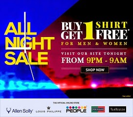 Buy 1 Get 1 Free Offer on Branded Shirts (Allen Solly, Van Heusen, Peter England, Loius Philippe& People) Valid till 9.00 AM Tomorrow