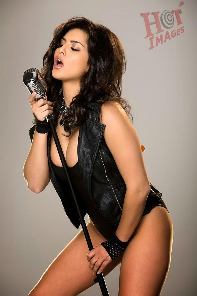 Hot Sunny Leone in black dress