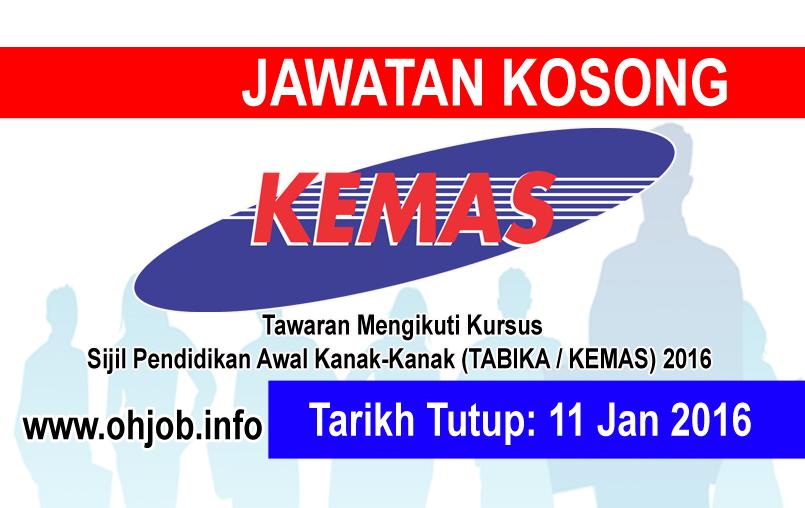 Jawatan Kerja Kosong Jabatan Kemajuan Masyarakat (KEMAS) logo www.ohjob.info januari 2016