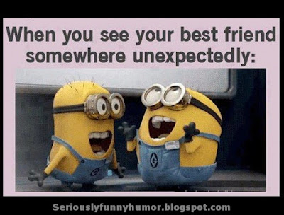 When you see your best friend somewhere unexpectedly - Minions