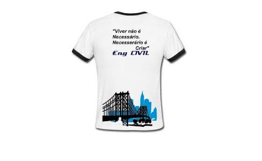 Engenharia Civil Fepi Camiseta Preta