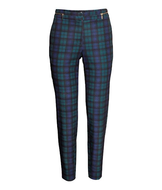 blue tartan trousers