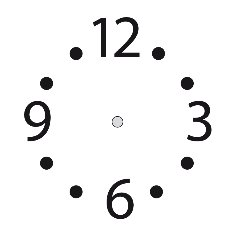COLOREA TUS DIBUJOS: Plantilla de reloj
