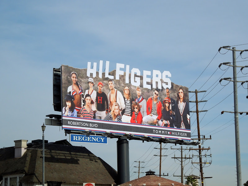Hilfigers Hollywood Sign special extension billboard