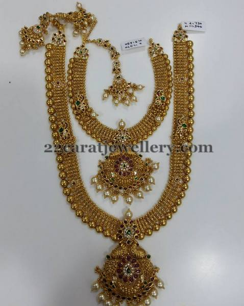 Kundan Long Set Tikka and Necklace