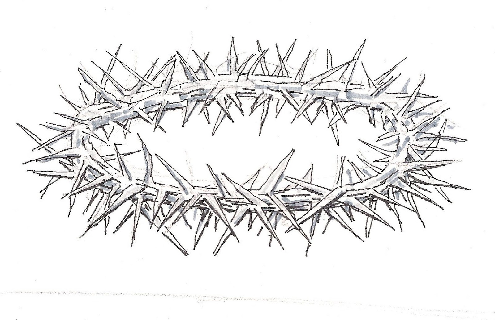 Crown Of Thorns Drawings