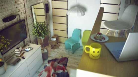 desain interior rumah, desain keren anak muda, gaya casual santai