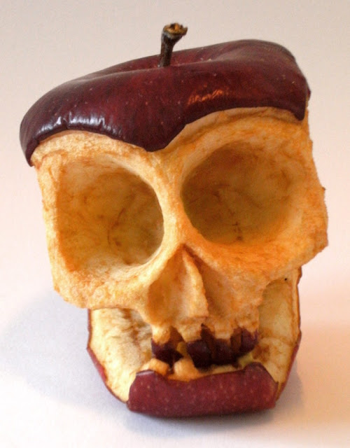 JoeyHawks: Skull apple rotting