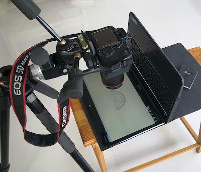 Photoelasticity or Birefringence Setup Shot