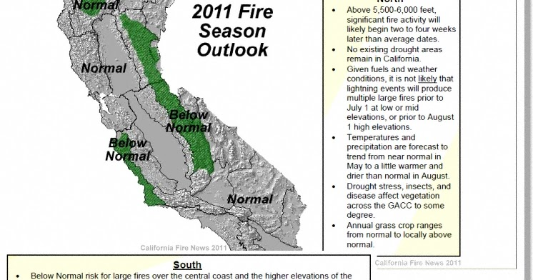 Fire Season Nifc 2011 California Wildfire Seasonal Assessment