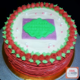 Kek Buttercream (Ribbon Rose)