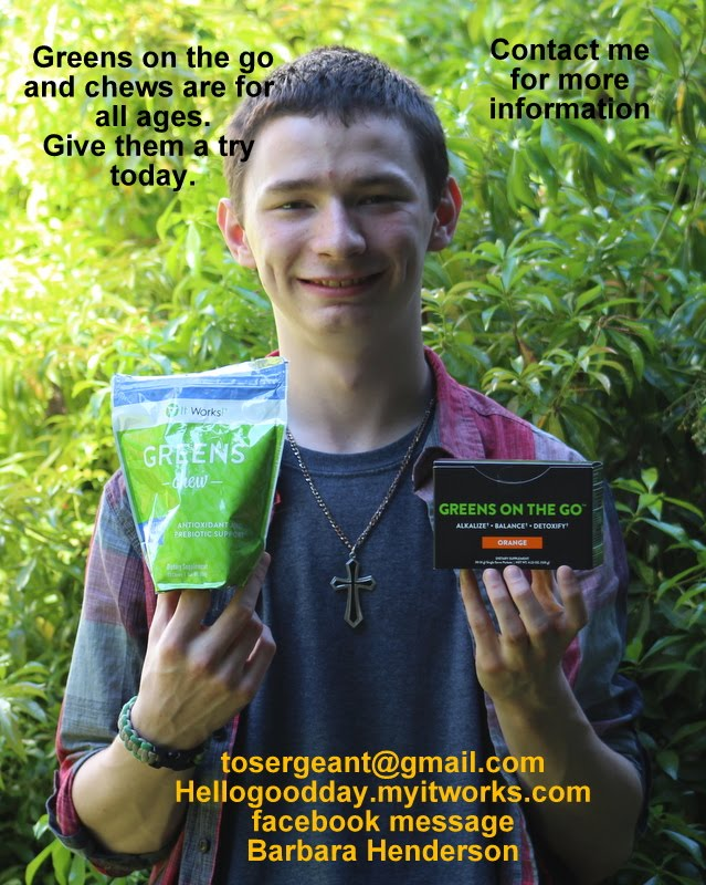 Greens on the Go and Pre-biotic chews