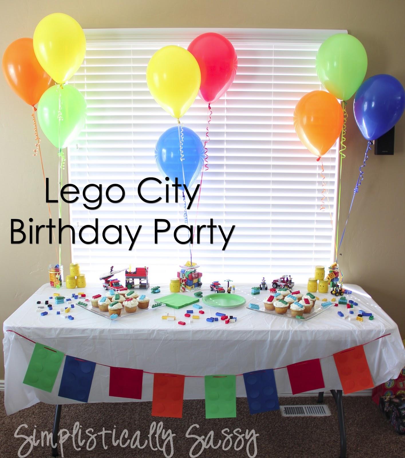 Lego Birthday Party By Simplistically Sassy