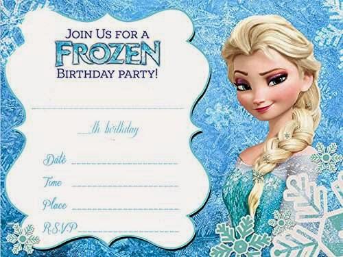 Tarjetas de Cumpleaños con Elsa de Frozen, parte 2