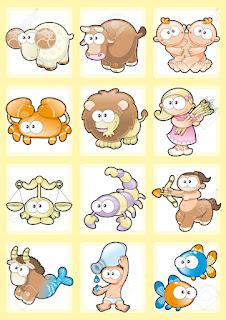 Gambar Zodiak Kartun Binatang Lucu Funny Zodiacs Wallpaper HD Horoskop