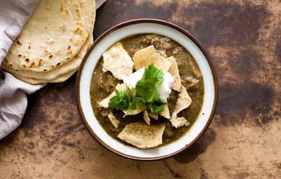 chile verde con carne beef green chili