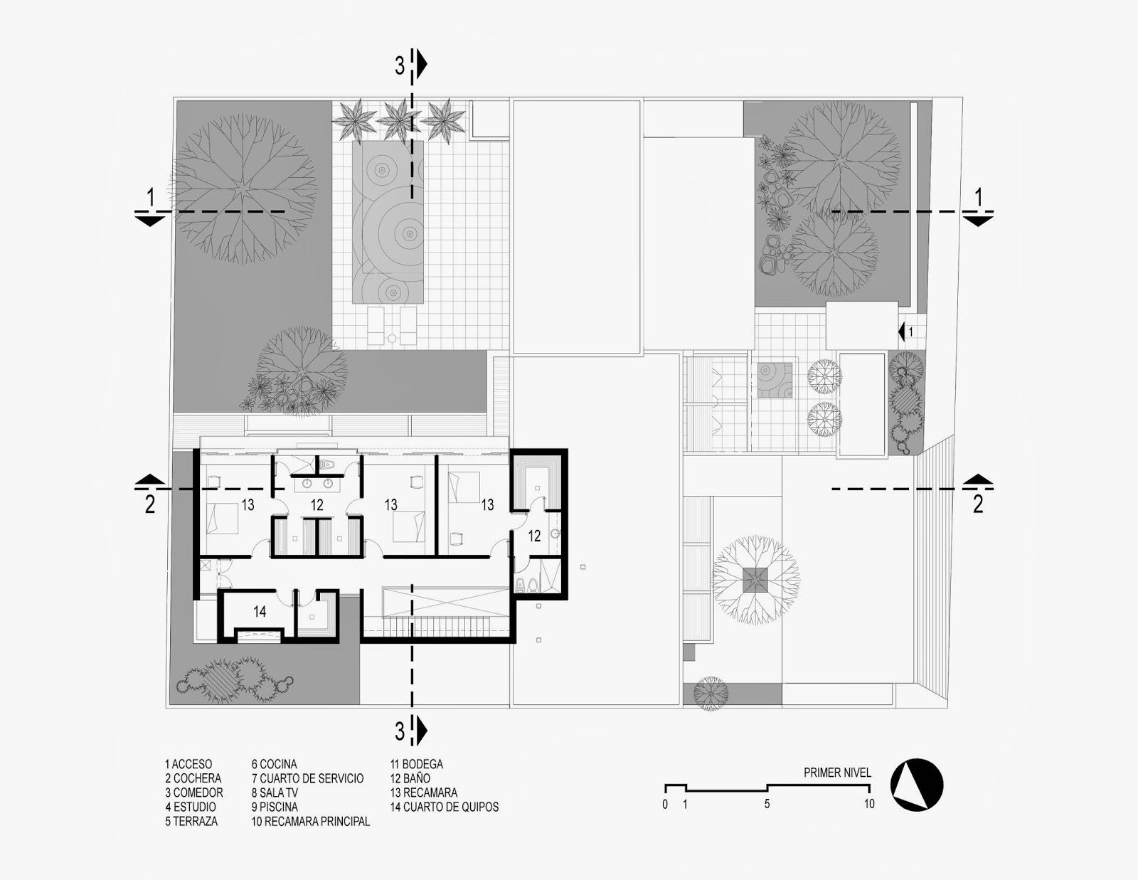 Apuntes revista digital de arquitectura proyecto casa - Planta de salon ...