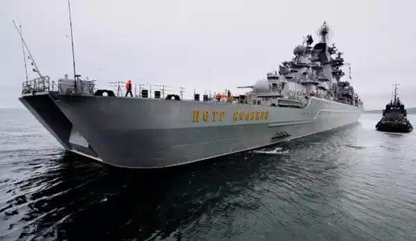 Σύμπραξη πολεμικών πλοίων της Ρωσίας και της Κίνας κατά τη διάρκεια στρατιωτικής επιχείρησης