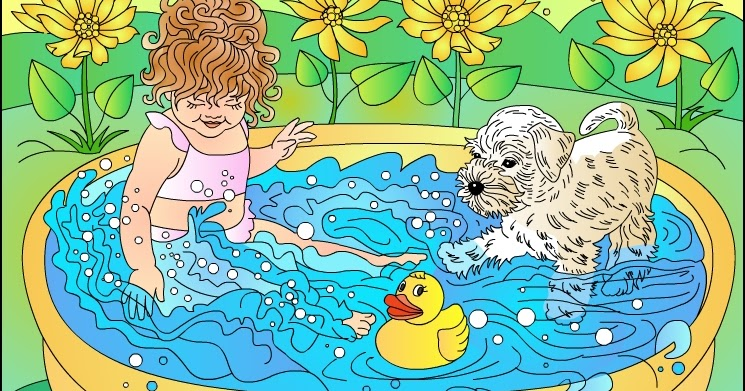Image Result For Summer Party Coloring