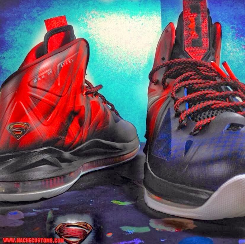 "THE SNEAKER ADDICT: Nike Lebron 10 ""Man Of Steel"" X Mache ..."