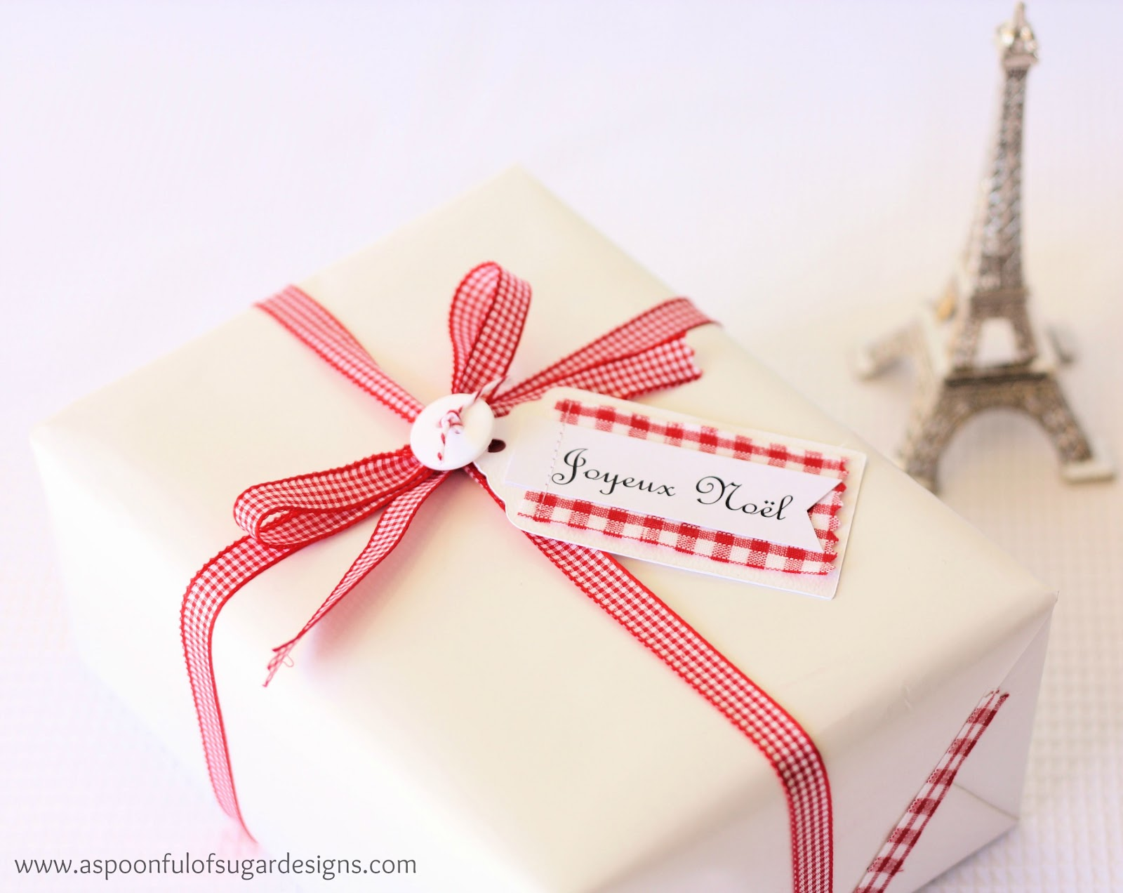 French Inspired Christmas: Gift Tags and Fabric Tape - A Spoonful of ...