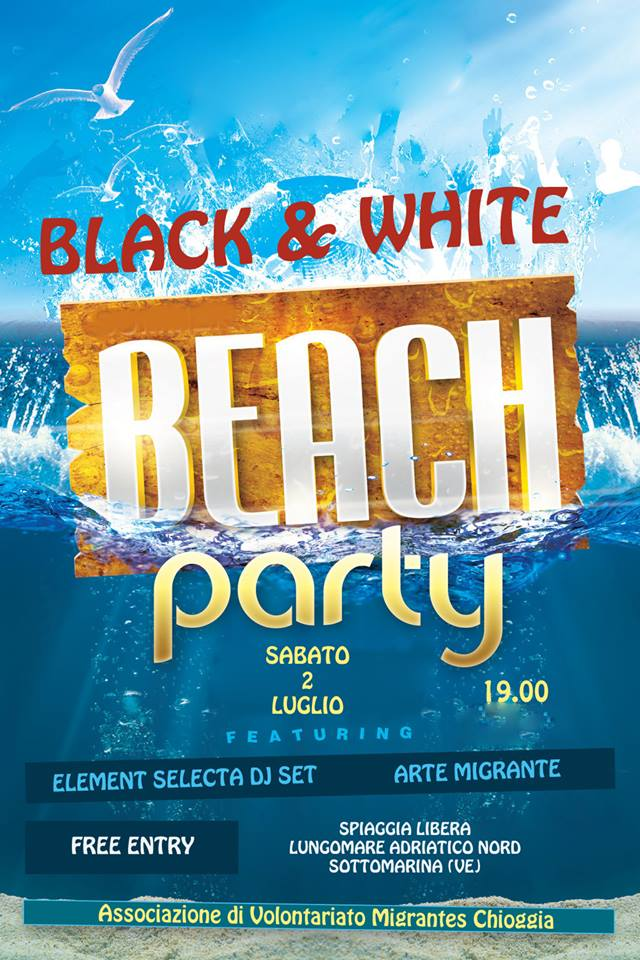 Black and White Beach Party