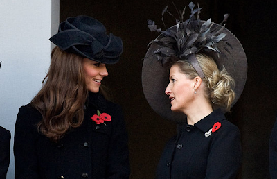 kate middleton black Jane Corbett hat