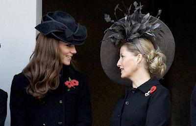 kate middleton black Jane Corbett hat