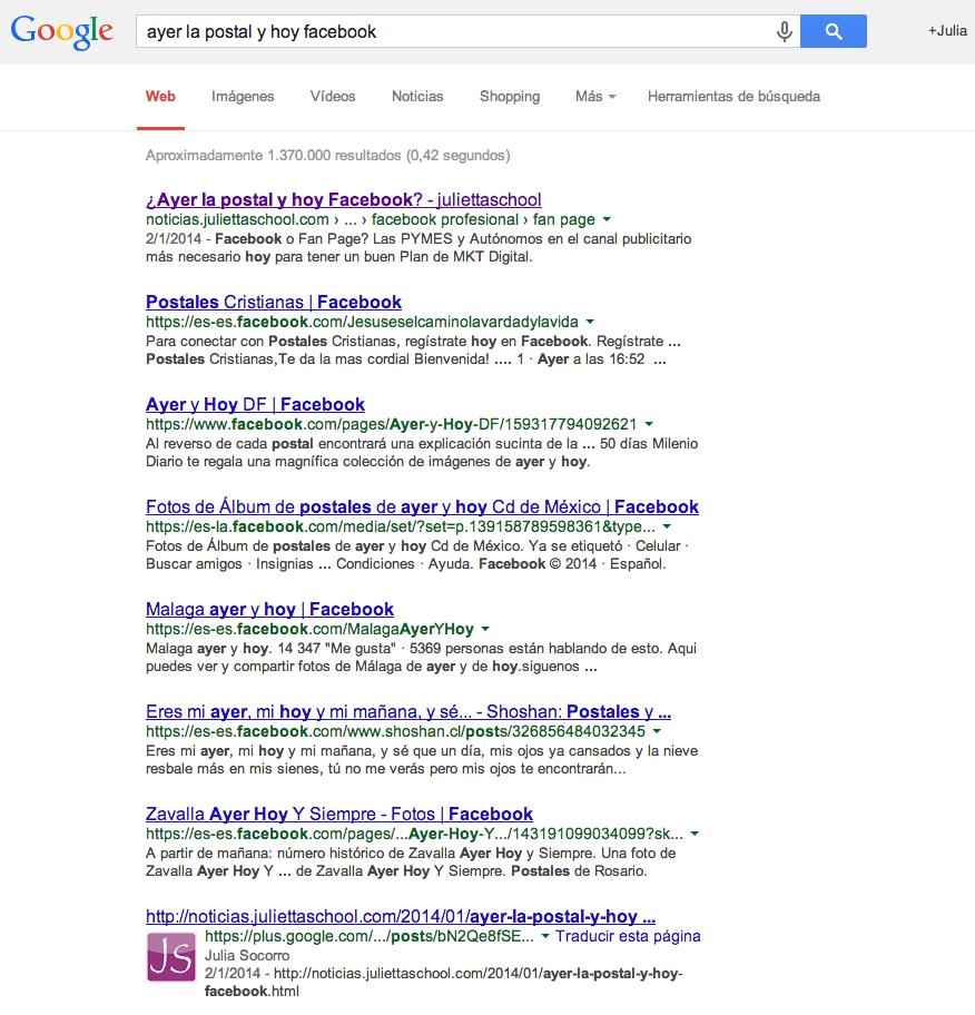 ¿Cómo funcionan las Keywords a través de Google Plus?