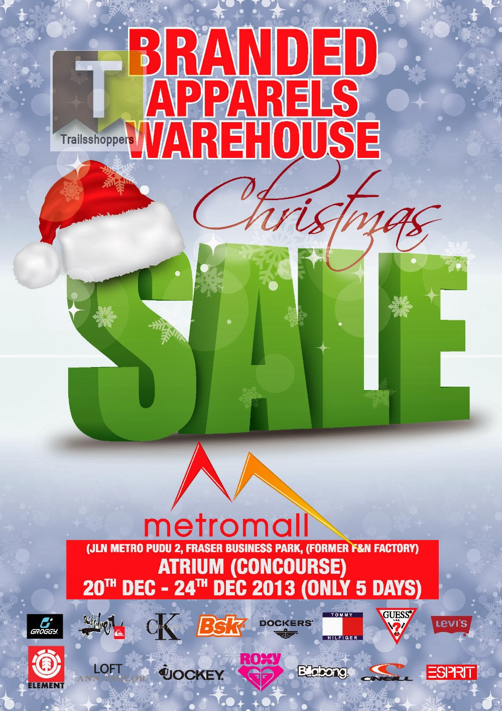 Branded Apparels Warehouse Christmas Sale