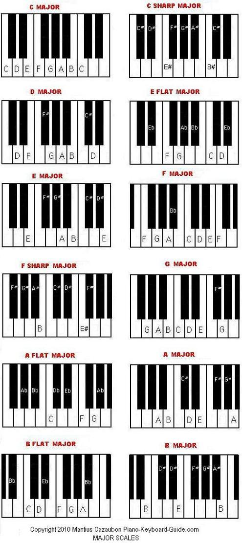 Major And Minor Scales Unit 37 The Functional Music Keyboard