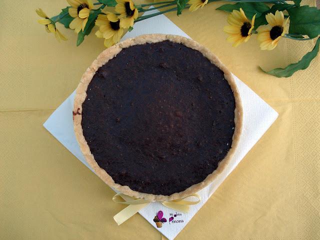 tarta, tarta de plátano, tarta de plátano y chocolate, chocolate, plátano,