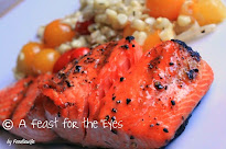 Maple-Bourbon Basted Grilled Salmon